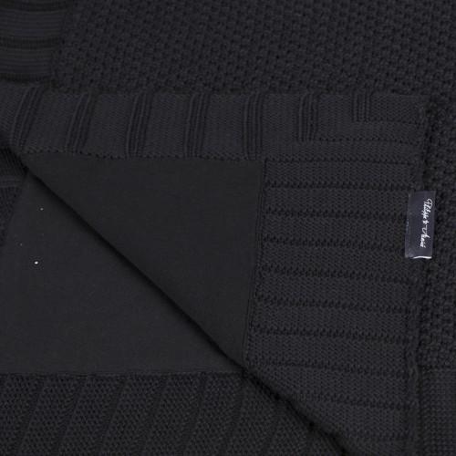 Papayia Black, black jersey handprint